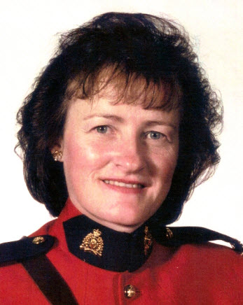 Photograph of Jane Hall as a member of the RCMP