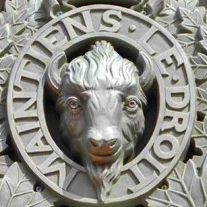 RCMP motto & bison head