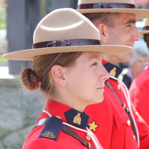 Photograph of a female RCMP member at Surrey Detachment