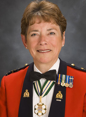 Photograph of RCMP Commissioner Beverly Busson (Source of photo - orderofbc.gov.bc.ca)