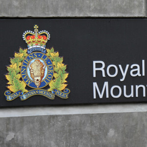 Photograph of RCMP E Division sign on new building