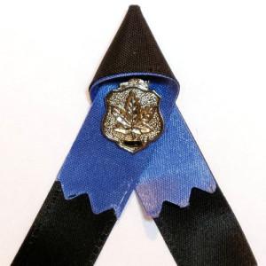 Photograph of police memorial ribbon