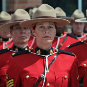 Photograph of female member stationed at Surrey Detachment in 2010